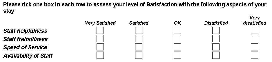 Rating And Ranking Levels Of Satisfaction In Your Survey