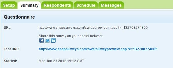 link online surveys to social media