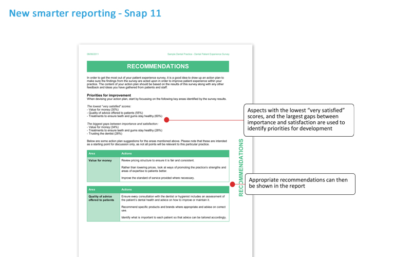 conditional reporting  new for snap 11 survey software
