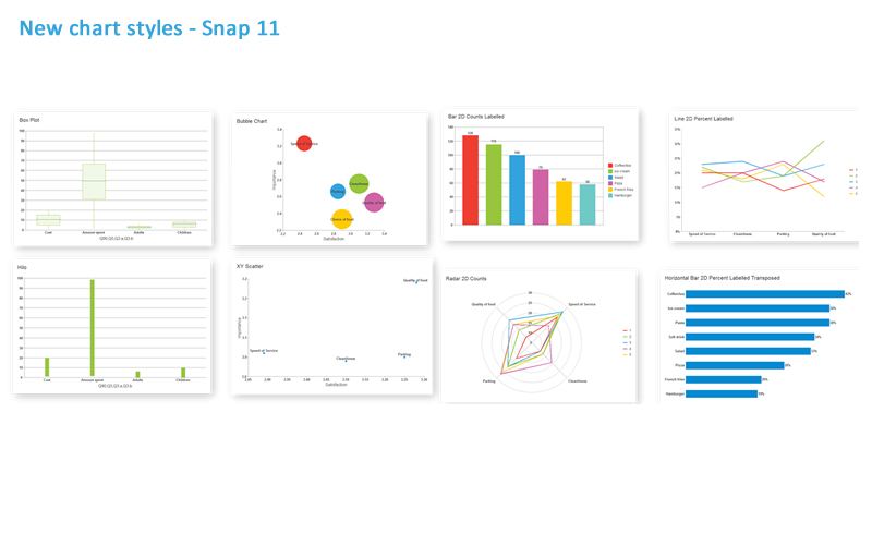 analysis reporting capabilities in snap 11 survey software