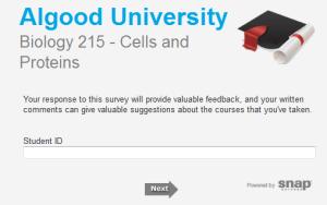 university survey