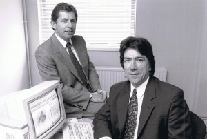 Peter Wills and Steve Jenkins, circa 1984 in the beginning years of Snap Surveys.