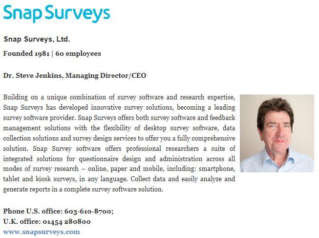 Snap Surveys Makes Top 25 Survey Solutions List - Snap Surveys Blog