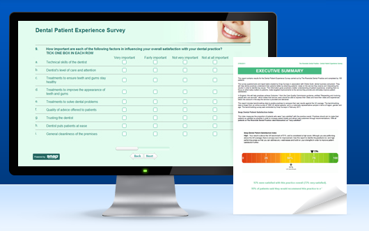 Dental Patient Experience Survey and report