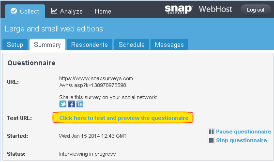 Snap WebHost: updatesurvey.asp showing adding mrogan