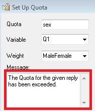 Set Up Quota - exceeded