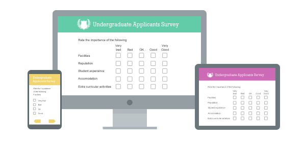 Create engaging online surveys for PCs, tablets and smartphones
