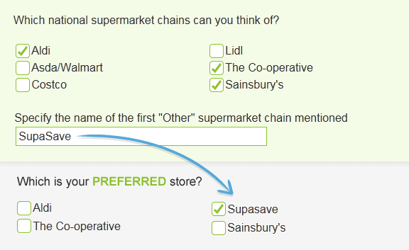 text replacement - dynamic questionnaires