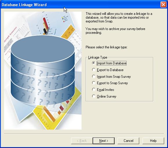 Database Linkage Wizard
