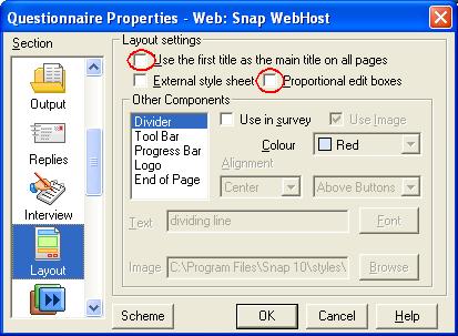 QP: Snap WebHost layout property