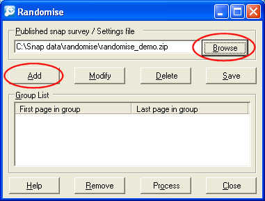 TK: Randomise showing browse button and selected file