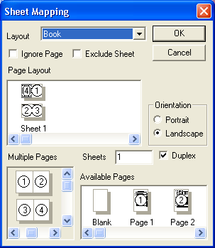 Scan : Sheet map showing book selected