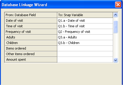 Data Linkage Wizard Variable Map Import