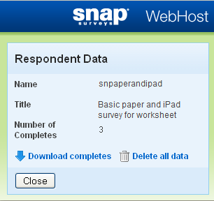 Respondent Data download