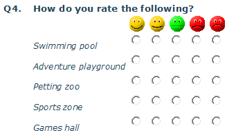 Rating scale grid example