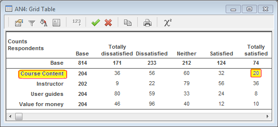 Smart reporting: image of grid table
