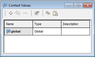 Context Values dialog