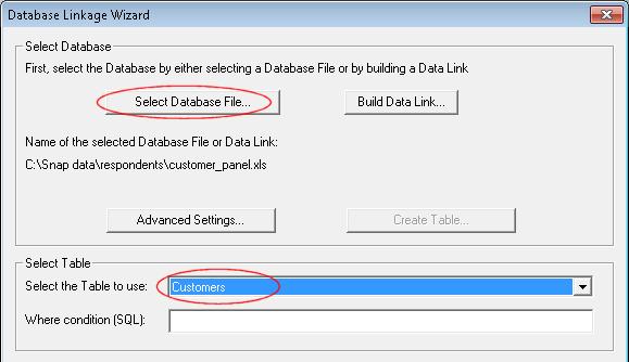 Database customers