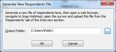 generate new respondents file