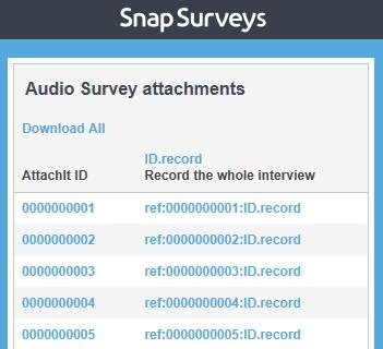 audio survey attachments