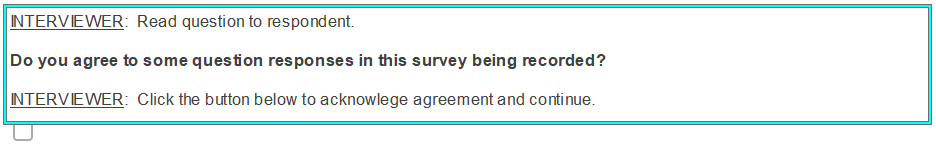 consent request text box