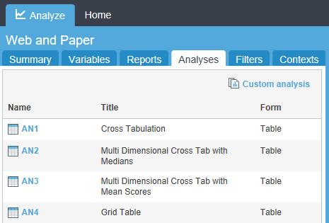 webhost analyses tab