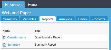 webhost reports tab