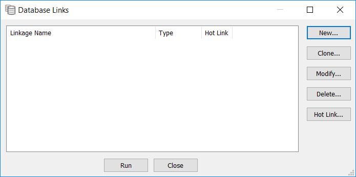 database link dialogue