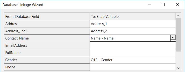 database match dialogue