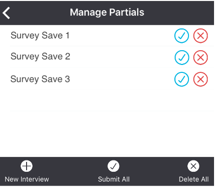 manage partials dialogue
