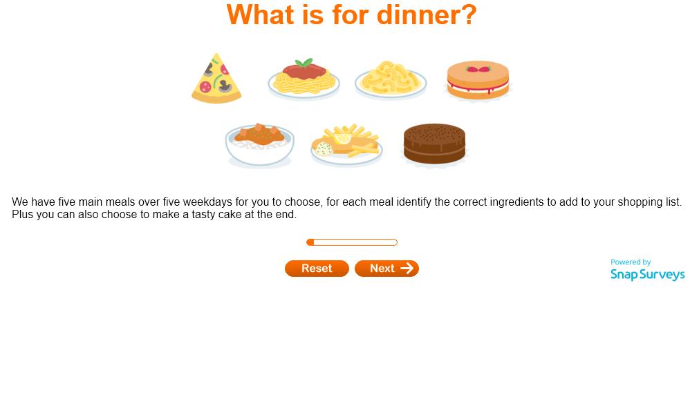 dinner quiz