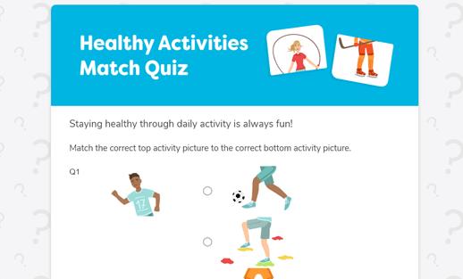 healthy activities quiz