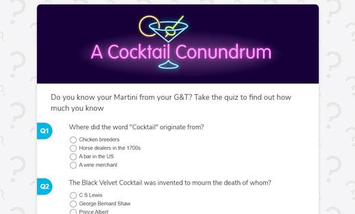 Cocktail quiz