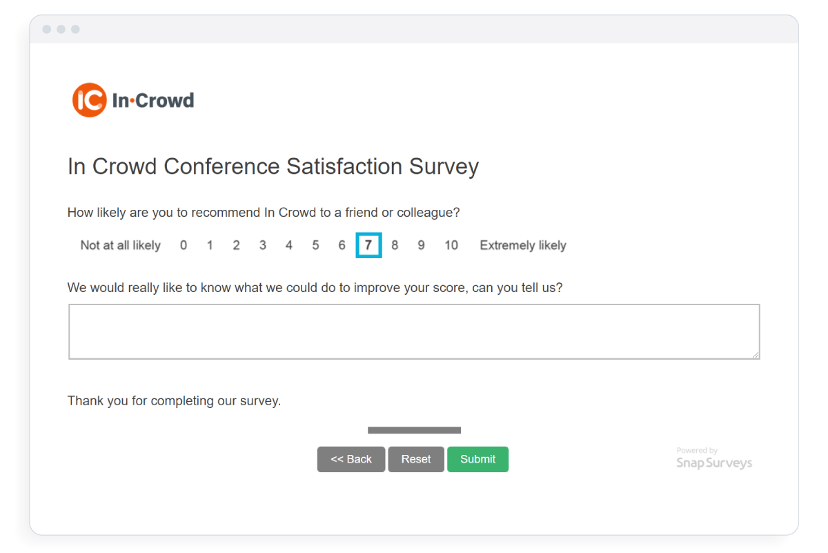 example of the customer satisfaction solution