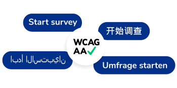 Multi-language surveys.