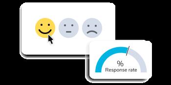 Smiley face survey question increasing response rates.