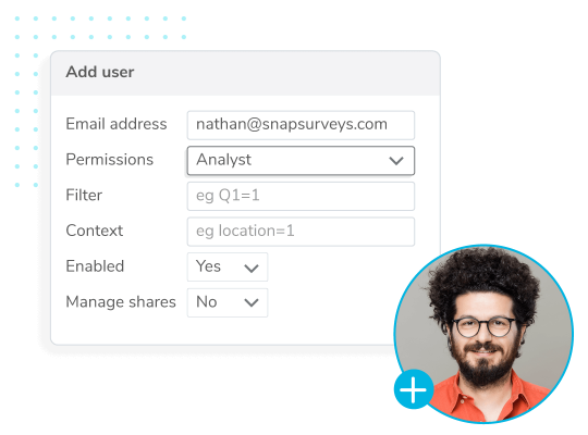 Permission controls within Snap Online.