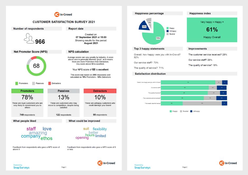 customer satisfaction solution report example